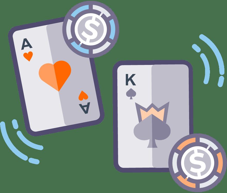 Лучшие Онлайн-казино в которых есть Casino War в 2021 году